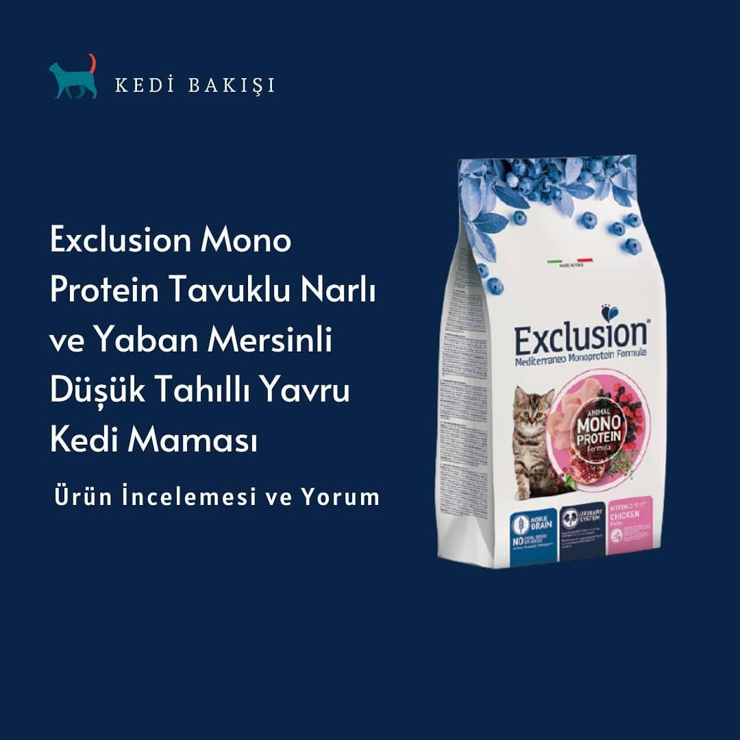 Exclusion Narlı Tahıllı kedi Mamaları İncelemesi